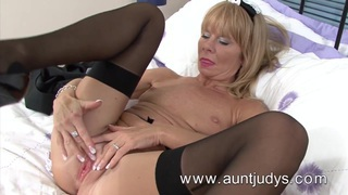 A 45-year old shows her goodies