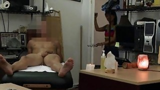Asian Chic Gets Fucked At The Pawnshop