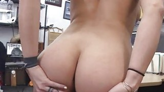 Sweet busty babe sucking huge cock