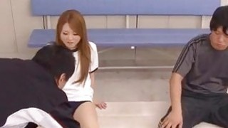 Sakamoto pleases to lad with her warm holes
